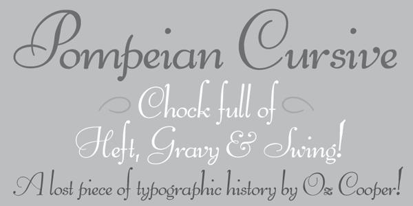 Pompeian Cursive Oz Cooper