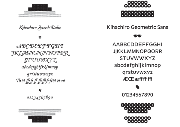 Kirimomi fonts for Onitsuka Tiger