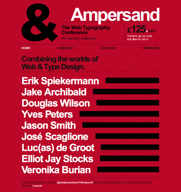 Ampersand Web Typography Conference