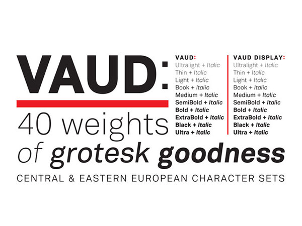Vaud - A Family of typefaces by Ian Lynam