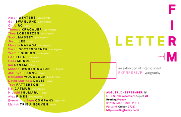 letterfirm exhibition