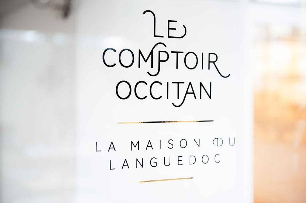 Identity and environmental design for Le Comptoir Occitan