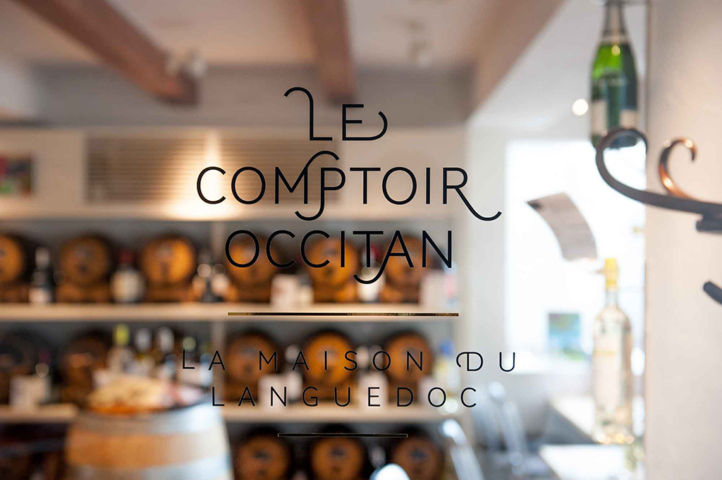 Identity and environmental design for Le Comptoir Occitan