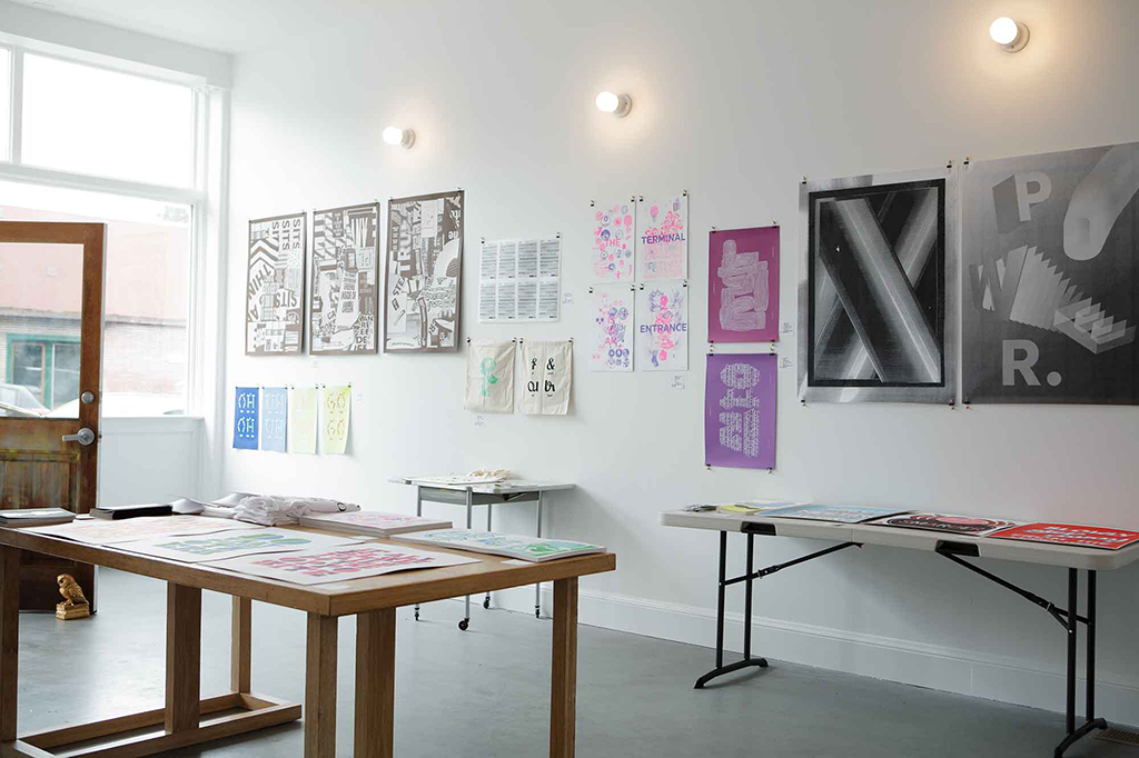 Letterfirm, an exhibition of international expressive typography