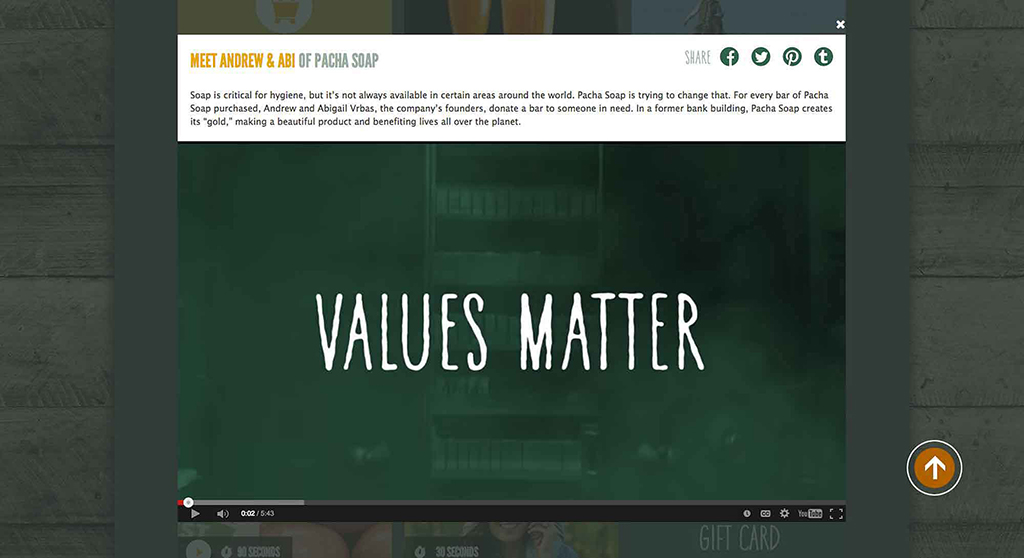 "Whole Foods ""Values Matter"" campaign typeface design by Ian Lynam Design"