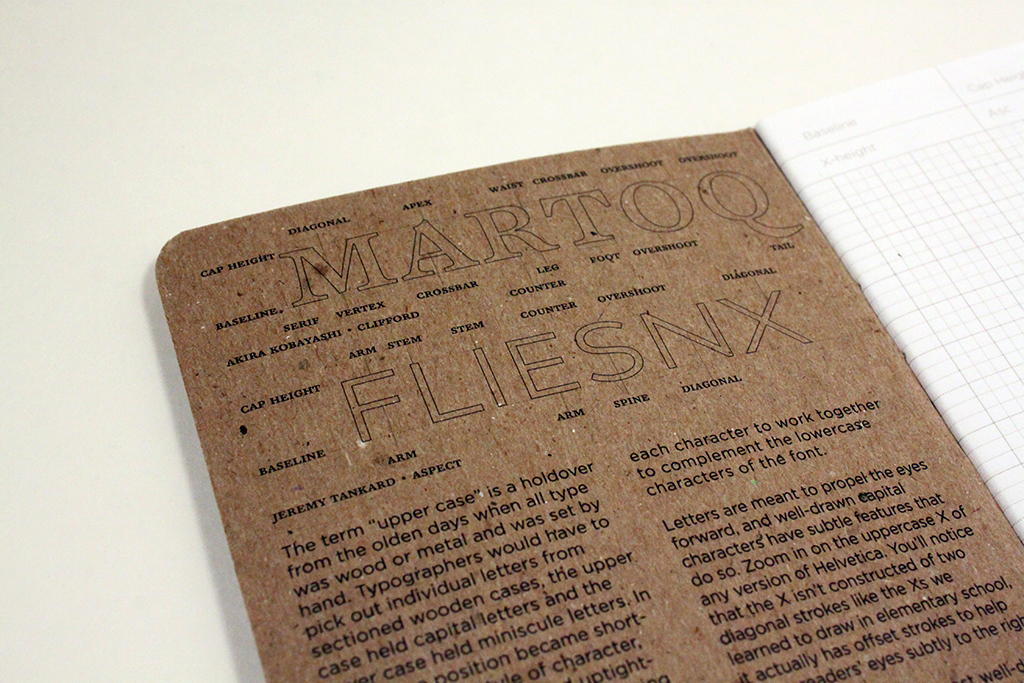 Type Sketcher is a trio of type design sketchbooks with modular grids for designing letterforms.