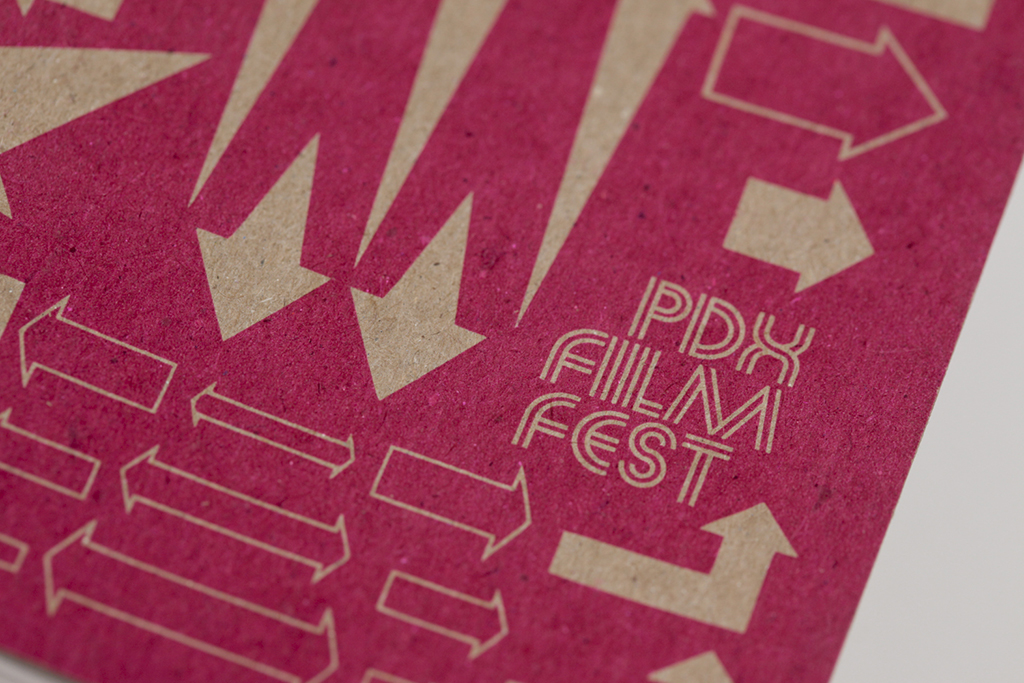 Design and typography for the Portland Documentary and eXperimental Film Festival (PDX Film Fest). Portland, Oregon