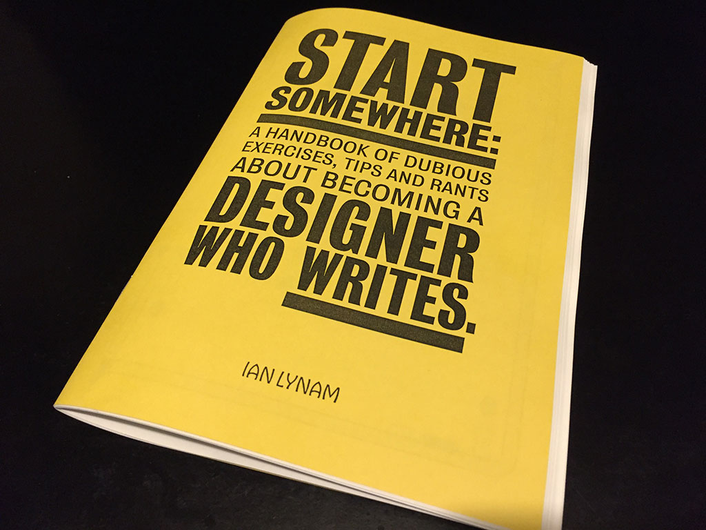 Start Somewhere by Ian Lynam