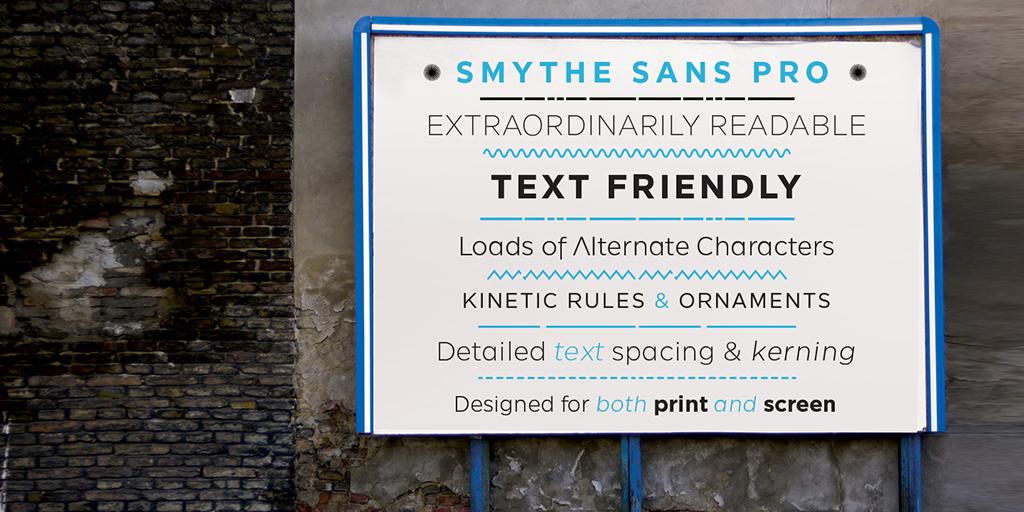 SmytheSans Pro by Ian Lynam