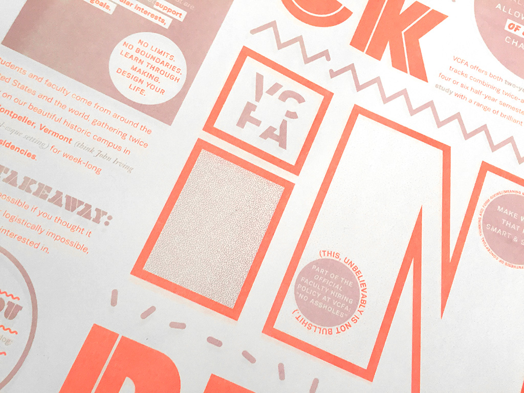 Promotional posters for VCFA's MFA in Graphic Design