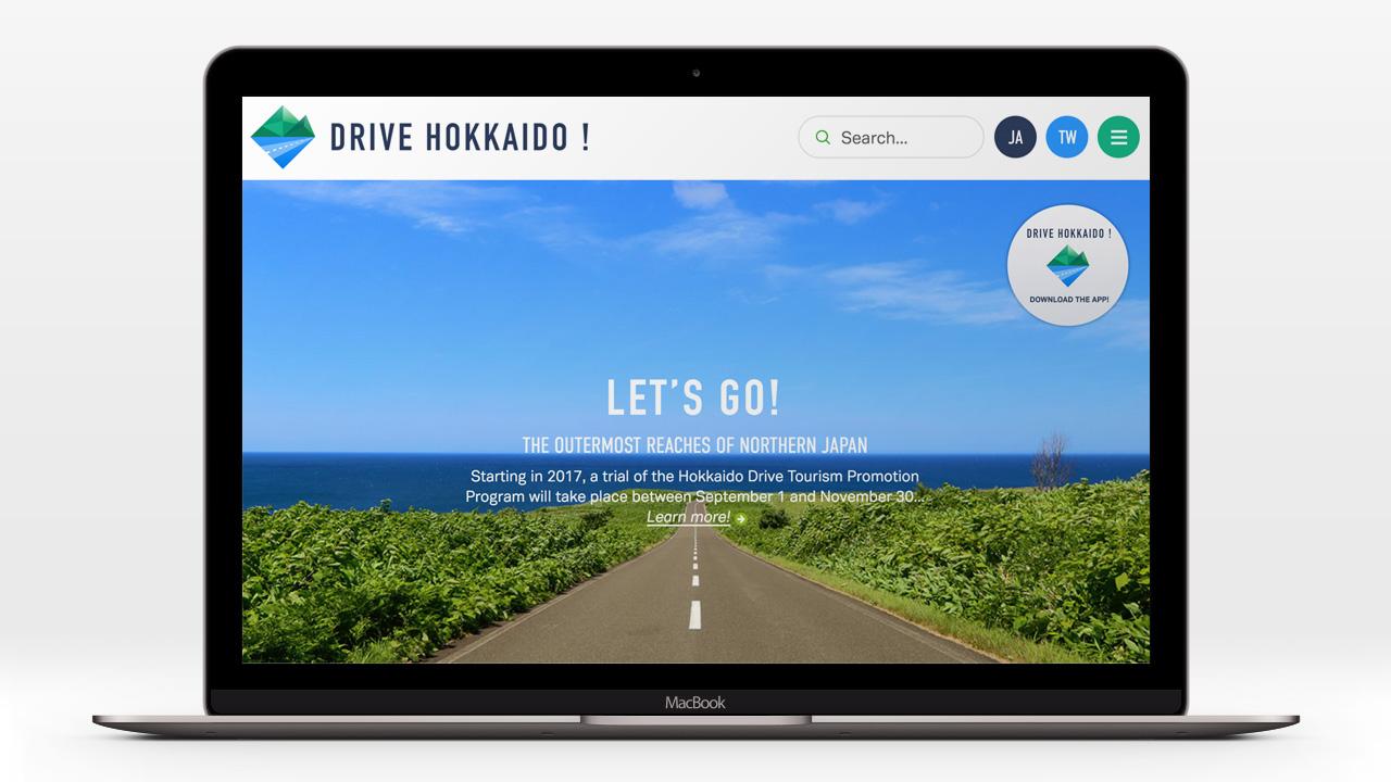Drive Hokkaido website by Ian Lynam Design